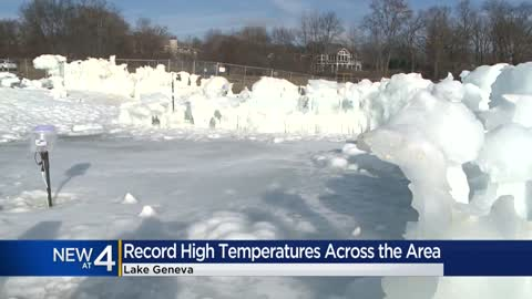 Lake Geneva Ice Castle melts, opening delayed