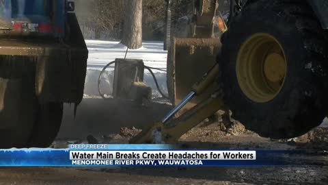 Multiple water main breaks reported in Wauwatosa
