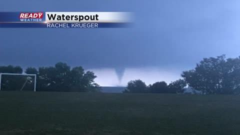 Waterspout captured over Lake Michigan in Milwaukee