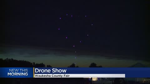 Drone show wows crowd at Waukesha County Fair