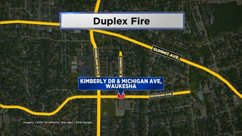Authorities respond to duplex fire in Waukesha, no one hurt