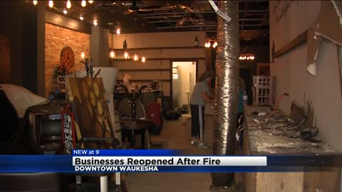 Waukesha businesses back open after August fire