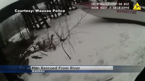 Wausau officers jump into freezing water to save suicidal man