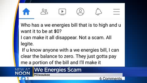 We Energies warns of scammers claiming they can pay your bill