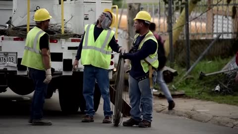 We Energies crew working to restore power to Puerto Rico