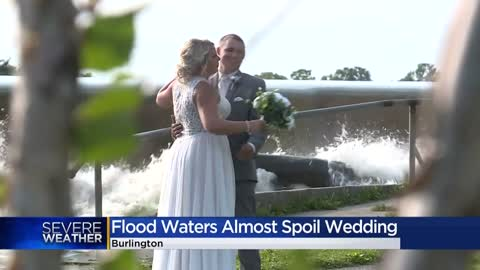 Close call for brides and grooms as flood waters nearly spoil...