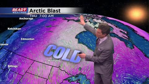 Arctic air is coming.  Dangerous wind chills are expected for Friday morning.