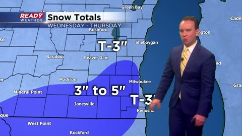 Afternoon Update: Heavy, wet snow on track to start Wednesday evening