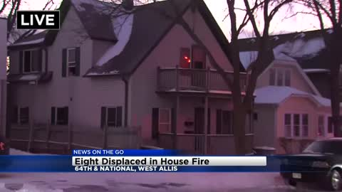 8 people displaced in West Allis house fire