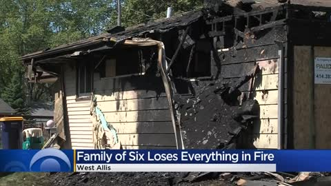 ' Neighbors and church step in to help family of six after...