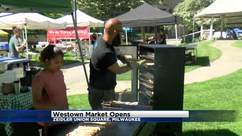 Westown Farmers Market opens for the season in downtown Milwaukee