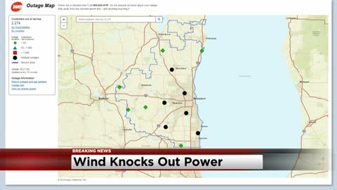 Strong winds cause power outages in southeast Wisconsin