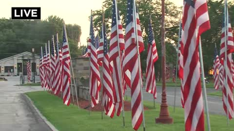 Old Glory, many of them, flies high at Wisconsin Memorial Park