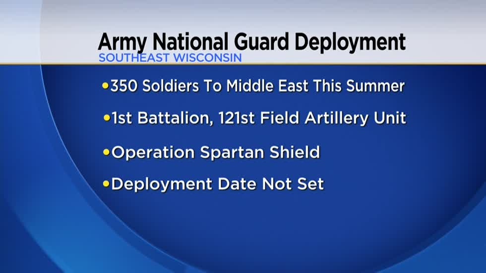 Over 350 Wisconsin National Guard soldiers to deploy to the