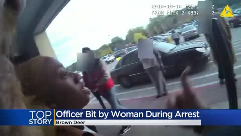 Brown Deer police release bodycam footage of woman who bit officer...