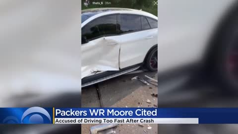 Green Bay WR Moore cited for driving too fast after crash
