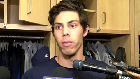 """It's a dirty play by a dirty player:"" Christian Yelich calls out Manny Machado after NLCS Game 4"