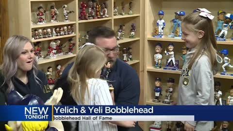 New bobblehead features Christian Yelich with dog he gifted young...