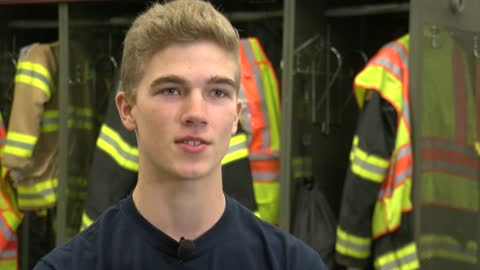 Teenage firefighter steps up to save life of man suffering medical emergency at local Shopko