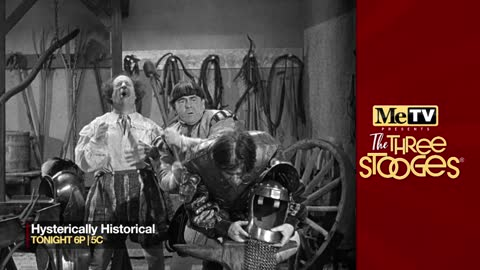 MeTV presents The Three Stooges Hysterically Historical on June...