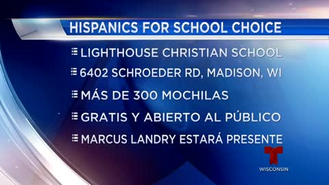 Hispanics for School Choice dará más de 300 mochilas en Madison