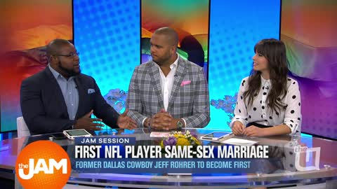 First NFL Player Same-Sex Marriage and Jenna Dewan & Jessie J