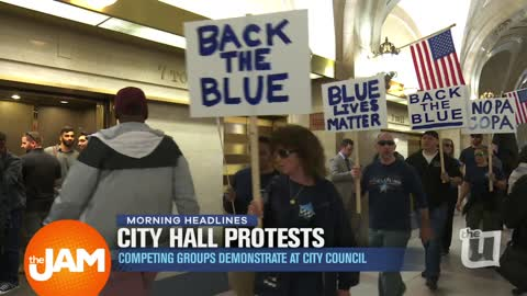 City Hall Protests over Obama Center