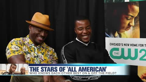 'All American' Stars Taye Diggs & Daniel Ezra Test Eachother On & Off The Field