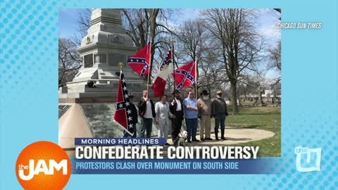 Protesters Clash over Confederate Monument on South Side
