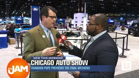 Brandon Pope at the Final Weekend of the Chicago Auto Show