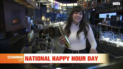 Carly Celebrates National Happy Hour Day at VU Rooftop Bar