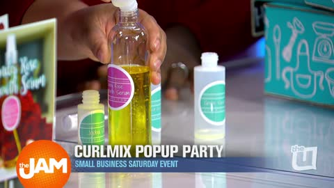 CurlMix Popup Party for Small Business Saturday