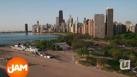 Beautiful Aerial View of Summertime Chicago