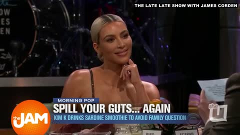 Kim Won't Confirm Kylie's Pregnancy on The Late Late Show