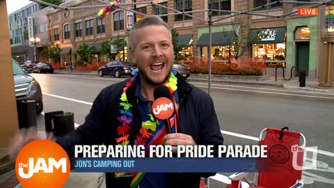 Jon Hansen Prepares for the Pride Parade