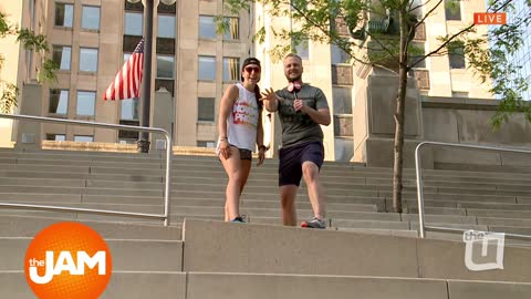 Jon Takes a Stair Stepping Class by the Chicago River