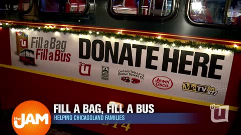 Fill a Bag, Fill a Bus Campaign at the Jewel-Osco in Homewood