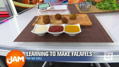 Learning to Make Falafels with Executive Chef Pat from Naf Naf Grill
