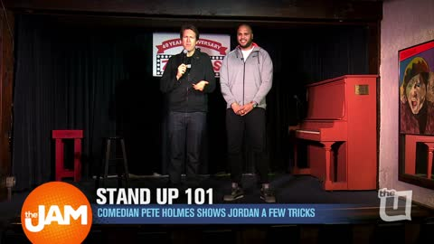 Comedian Pete Holmes Shows Jordan a Few Stand Up Tricks