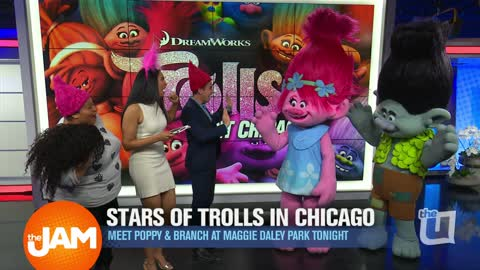 Stars of 'Trolls' in Chicago: Meet Poppy and Branch at Maggie Daley Park Tonight