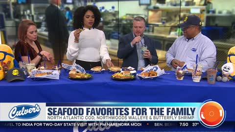 Seafood favorites for the Family at Culver's
